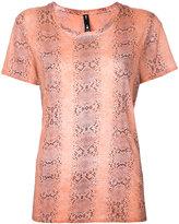 The Upside python print sports T-shirt - women - Cotton - XXS