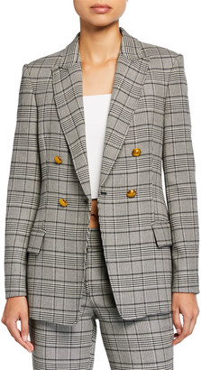 A.L.C. Sedgwick II Double-Breasted Plaid Jacket