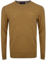 Superdry Orange Label Knit Jumper Yellow