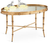Chelsea House Sofie Bamboo Coffee Table, Antiqued Gold