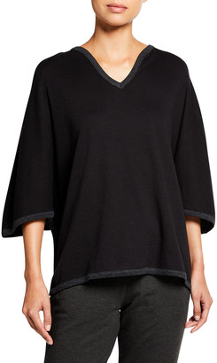 Majestic Filatures Cotton-Cashmere Poncho Top