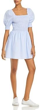 Aqua Striped Smocked Dress - 100% Exclusive