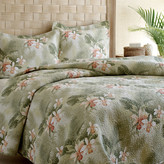Tommy Bahama Bedding Tropical Orchid 3 Piece Reversible Quilt Set