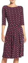 Leota Reversible Belted Geometric Print Jersey A-Line Dress