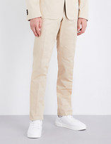 Thom Browne Regular-fit straight mid-rise cotton-twill chinos