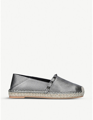Valentino Rockstud embellished leather espadrilles