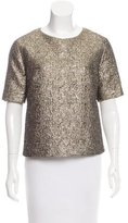 By Malene Birger Metallic Matelassé Top