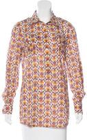 Tory Burch Floral Print Long Sleeve Tunic