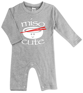 Urban Smalls Light Heather Gray 'Miso Cute' Playsuit - Infant