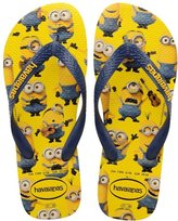 Havaianas Minions Unisex Rubber Flip Flops Yellow Navy 9 - 10 W - 8 M US