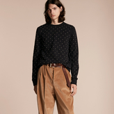 Burberry Riveted Jersey Sweatshirt