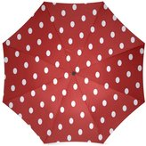 Polka Dots Umbrella White and Red Polka Dots Folding Portable Outdoor Rain /Sun Umbrella Beach Travel Shade Sunscreen For Women/Men