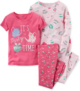 Carter's Girls' or Little Girls' 4-Pc. It's Party Time Pajama Set