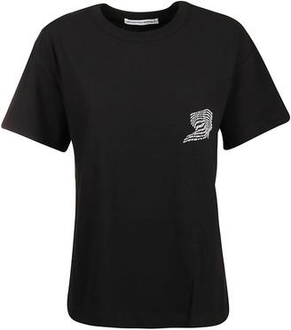 Alexander Wang T-shirt High Twist Jersey With Warped Logo Print