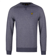 Lyle & Scott Oxford Navy Marl Crew Neck Sweatshirt