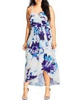 City Chic Blue Bloom Maxi Dress