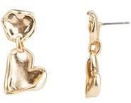 Rebecca Minkoff Organic Metal Heart Drop Earrings