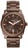 Fossil Machine Brown IP Stainless Steel Bracelet Men's Watch