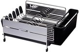 Kitchen Craft MasterClass Large Deluxe Stainless Steel Dish Drainer Rack, 44.5 x 32 x 19.5 cm