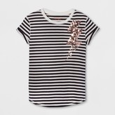 Cat & Jack Girls' Short Sleeve Lightning Bolt Graphic T-Shirt - Cat & Jack Black