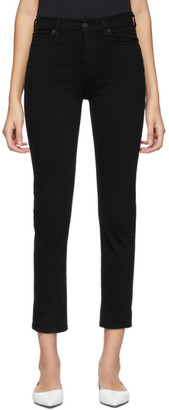 Citizens of Humanity Black Harlow Ankle Mid-Rise Slim Jeans