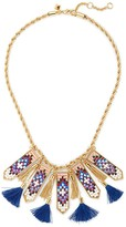 Rebecca Minkoff Catalina Seed Bead Statement Bib Necklace