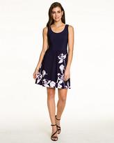 Le Château Floral Print Knit Fit & Flare Dress