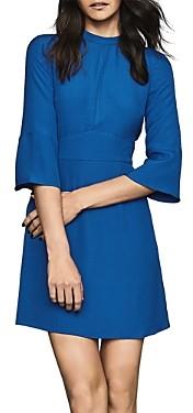 Reiss Cora Flared-Sleeve Shift Dress