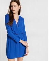 Express dolman sleeve surplice dress