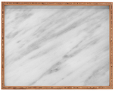 DENY Designs Italian Marble Carrara Large Rectangular Tray