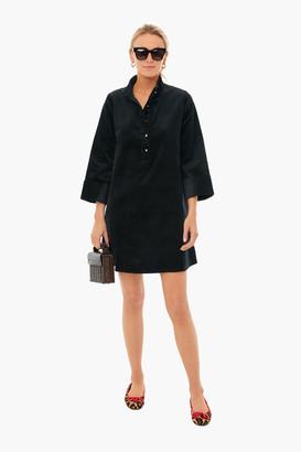Black Micro-Corduroy Rockstud Megan Dress