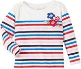 Jo-Jo JoJo Maman Bebe Flower Breton Top (Baby) - Cream-12-18 Months