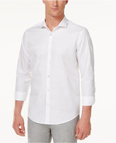 Alfani Men's Textured-Stripe Cotton Shirt, Only at Macy's