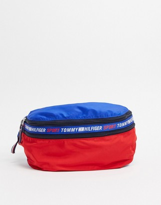 Tommy Hilfiger backpack in a fanny pack in navy/red/white