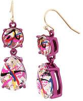 Betsey Johnson Harlem Shuffle Stone Earrings
