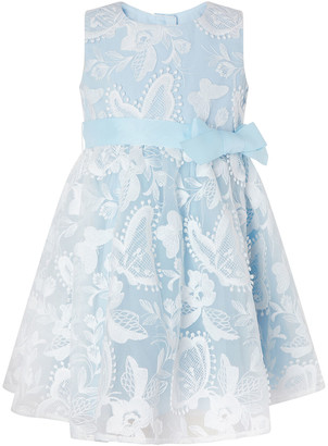 Monsoon Baby Sophia Embroidered Butterfly Dress Blue
