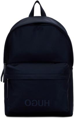 HUGO Navy Record Backpack