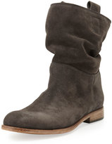 Alberto Fermani Umbria Slouchy Suede Bootie, Anthracite