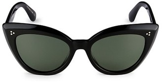Oliver Peoples Laiya 55MM Cat Eye Sunglasses