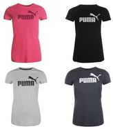 Puma Womens Essence No1 Logo T Shirt Summer Casual Short Sleeve Crew Neck Top