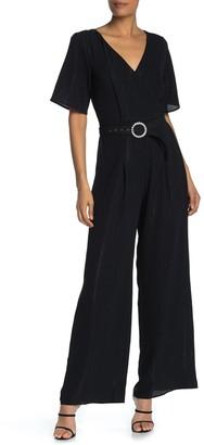 Rowa Belted Wide Leg Jumpsuit