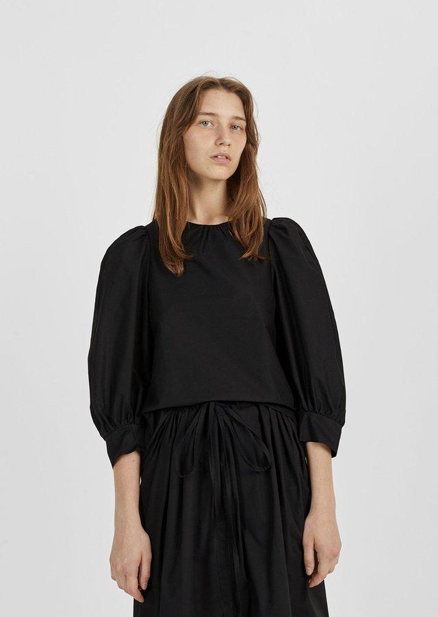 Atlantique Ascoli Peasant Blouse Black Size: 0