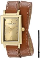 Stuhrling Original Women's 810.SET.02 Audrey Paris Yellow Gold-Plated Watch with Interchangeable Straps