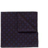 Lardini Circle print cotton twill pocket square
