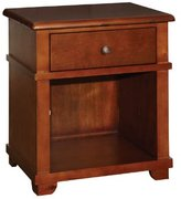 Bolton 8401700 Woodridge 1-Drawer Nightstand, Chestnut