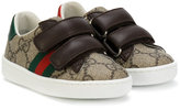 Gucci Kids GG Supreme touch strap sneakers