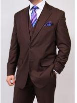 Ferrecci Ferrecci's Men's Brown 2-button Vested Suit