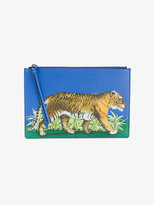 Gucci Bengal tiger print pouch