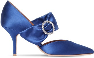 Malone Souliers 70MM MAITE EMBELLISHED SATIN PUMPS