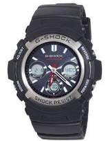 Casio Men's Solar Powered G-Shock AWGM100 Black Analog-Digital Watch